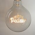 PEACE   Word Light Bulb