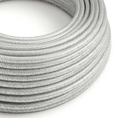 Silver Glitter covered Round electric cable - RL02
