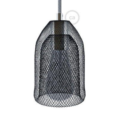 Ghostbell - The wire mesh pendant lampshade with socket cover