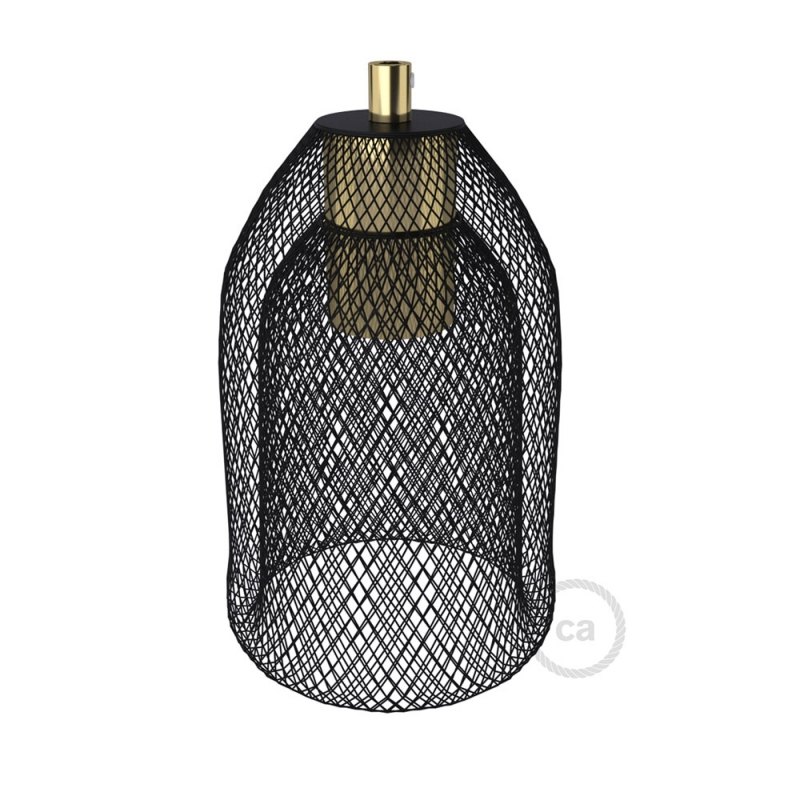 Naked light bulb cage metal lampshade Ghostbell with E26 socket