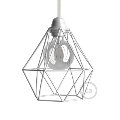 Diamond Cage Metal Pendant Light Shade