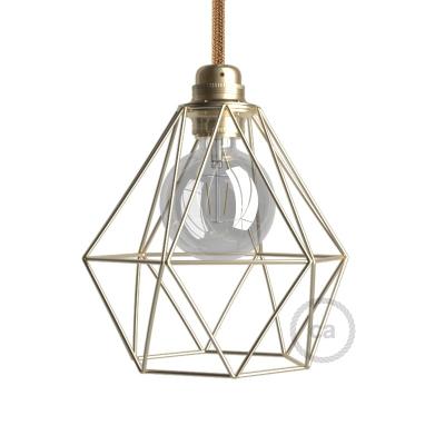 Diamond Cage Metal Pendant Light Shade