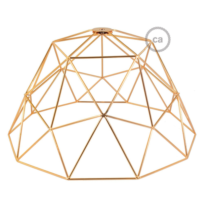 Dome XL naked cage metal Lampshade with E26 socket