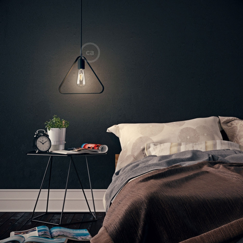 Metal Duedì Apex lampshade with metal socket cover and E26 socket