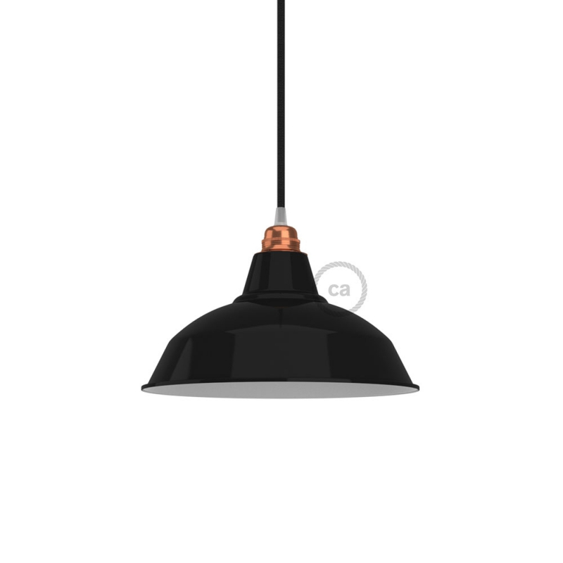 Bistrot lampshade in polished metal with E26 fitting, 30 cm diameter