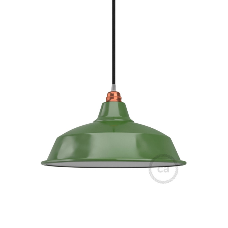 Bistrot lampshade in polished metal with E26 fitting, 38 cm diameter