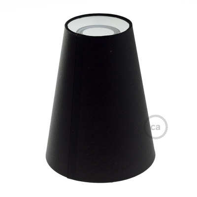 Truncated Cone fabric lampshade with E26 fitting, 16cm diameter h20cm - 100% Made in Italy