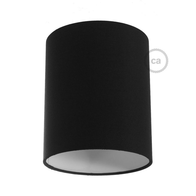 Cylinder Fabric Lampshade E26 Fitting Made In Italy