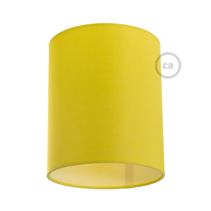 Cylinder fabric lampshade with E26 fitting, 15cm diameter h18cm - 100% Made in Italy