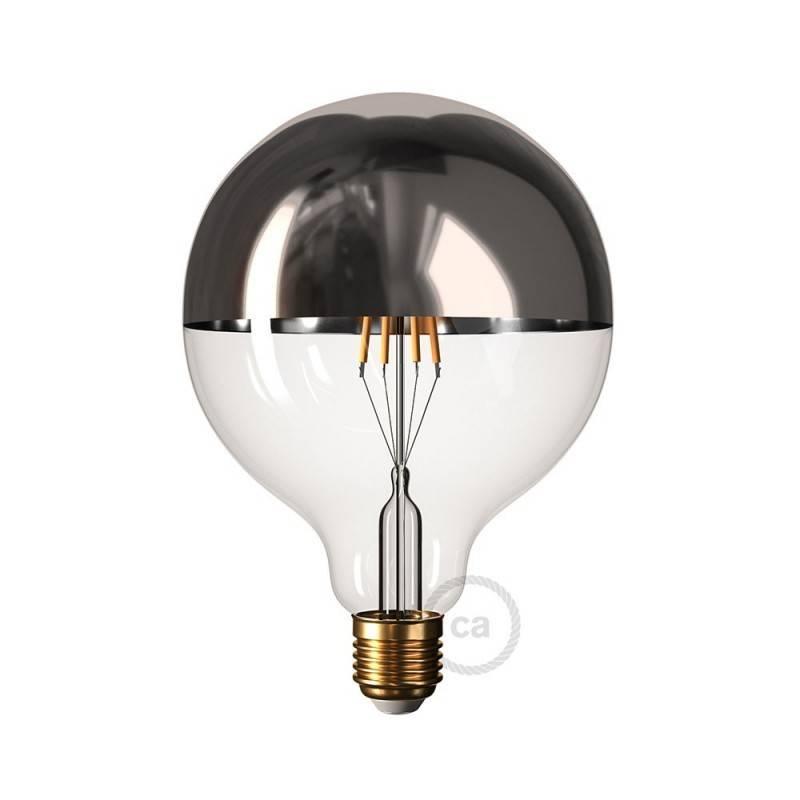 Half Dipped G80 Bulb - Silver