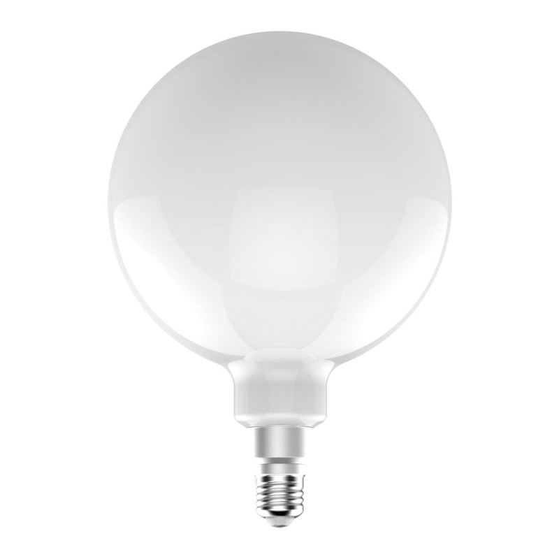 Standard G200 Bulb with Straight Filament - Milky Finish