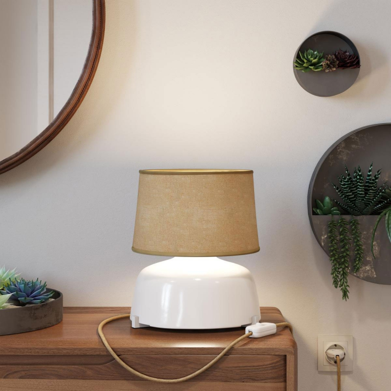 Athena lampshade with socket E26 for table lamp - Made in Italy