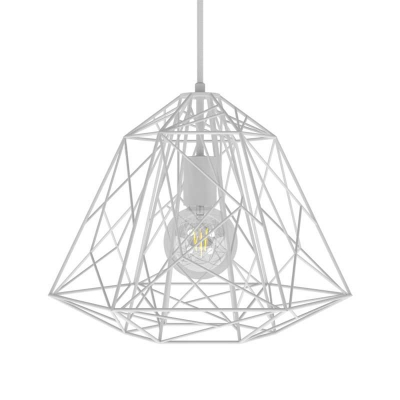 Pendant lamp with textile cable, Apollo lampshade and metal details