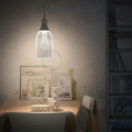Pendant lamp with textile cable, Jéroboam bottle lampshade and metal details