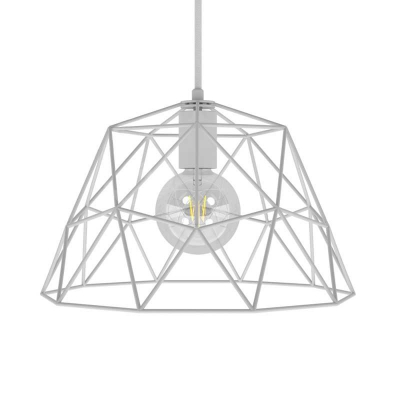 Pendant lamp with textile cable, Dome lampshade and metal details