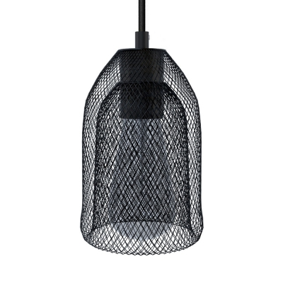 Pendant lamp with textile cable, Ghostbell lampshade and metal details