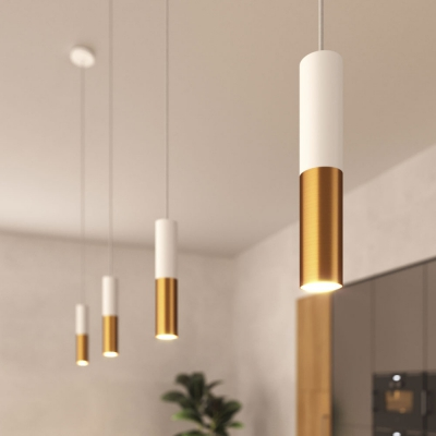 Pendant lamp complete with fabric cable and Tub-E12 double lampshade