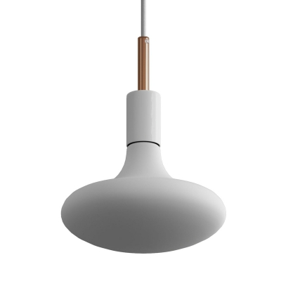 Pendant lamp with textile cable, metal details and 7cm cable clamp