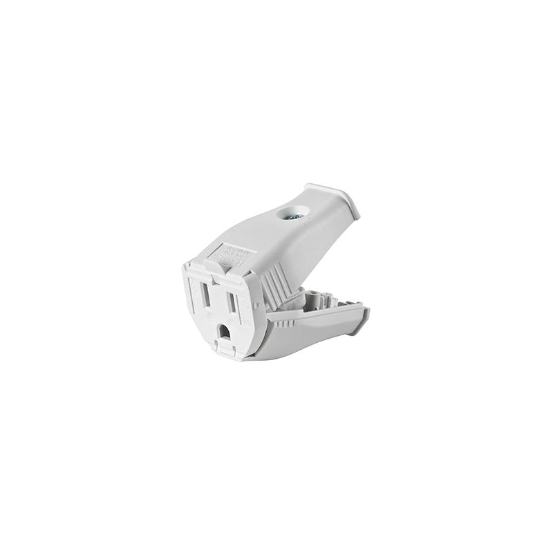 White Female 3 Prong Plug