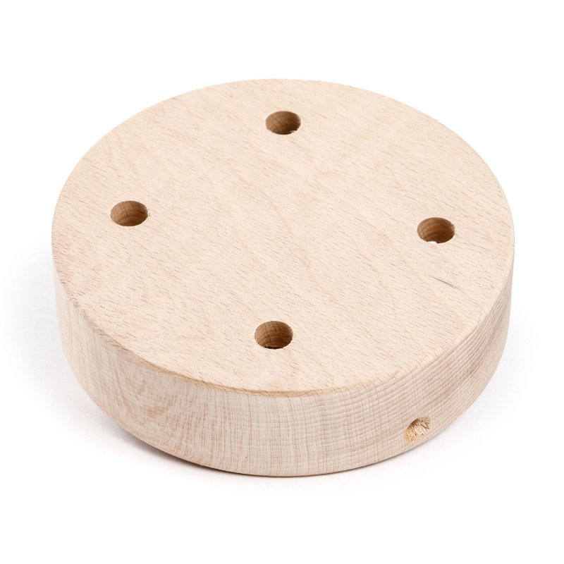 Cylindrical wooden 4-hole canopy Kit