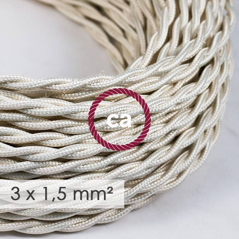 Extension Cord - Twisted Ivory Rayon TM00 - 15/3 AWG