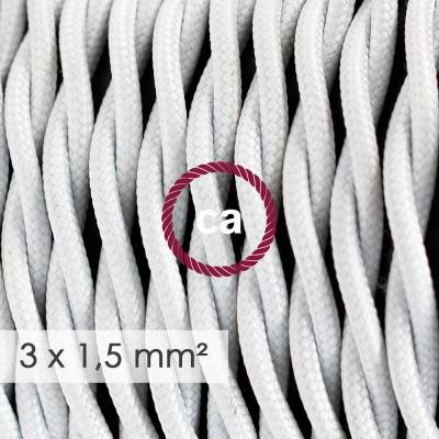 Extension Cord - Twisted White Rayon TM01 - 15/3 AWG
