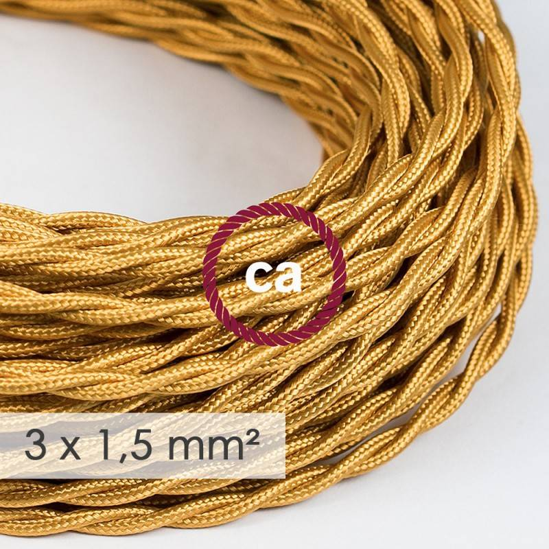 Extension Cord - Twisted Gold Rayon TM05 - 15/3 AWG