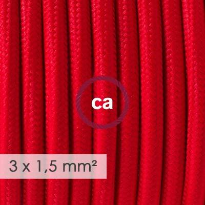 Extension Cord - Round Red Rayon RM09 - 15/3 AWG