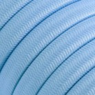 Electric Cable Color Cord for Custom String Lights, covered by Rayon fabric Baby Azure (CM17)