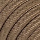 Electric Cable Color Cord for Custom String Lights, covered by Rayon fabric Cipria (CM27)