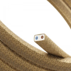Electric Cable Color Cord for Custom String Lights, covered by Jute fabric (CN06)