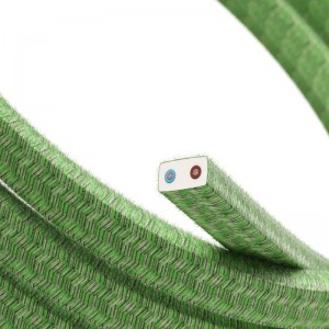 Electric Cable Color Cord for Custom String Lights, covered by Cotton fabric Pixel Bronte (CX08)