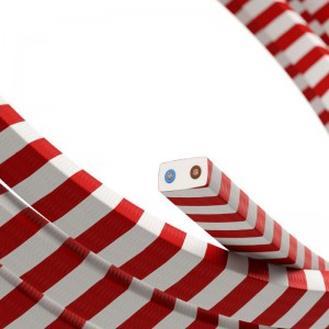 Electric Cable Color Cord for Custom String Lights, covered by Candy Cane fabric (ECM39)