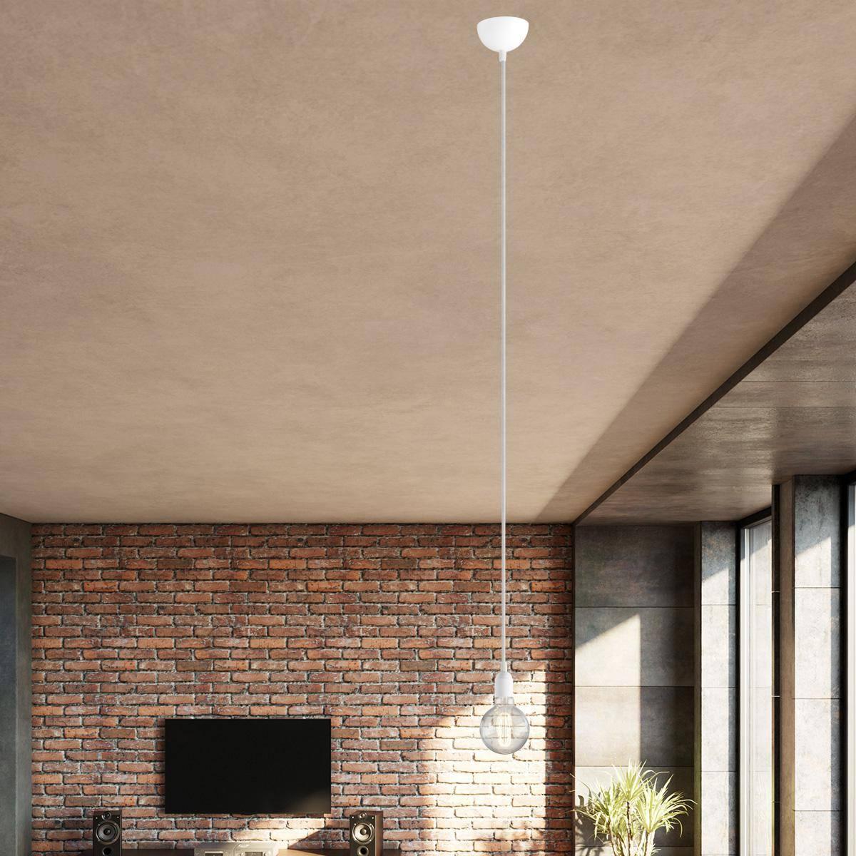 Single Pendant Lighting with naked bulb