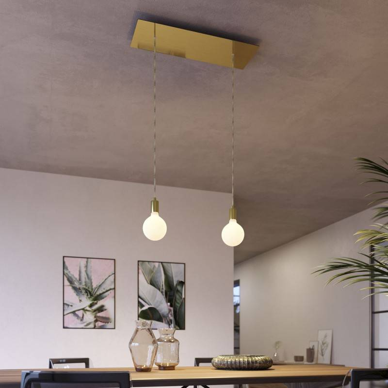 Double pendant light with Rose-One