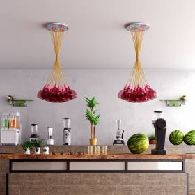 Rose One Canopy System - An extra large ceiling canopy system for pendants & swag lights