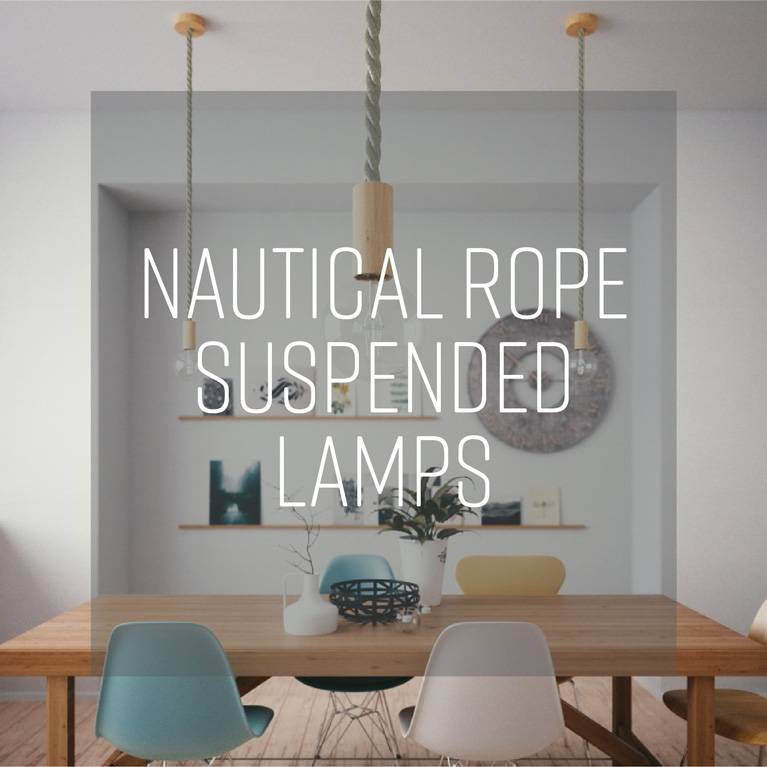 Nautical rope suspended lamps